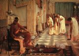 Waterhouse, John William: The Favourites of the Emperor Honorius. Fine Art Print/Poster. Sizes: A4/A3/A2/A1 (00854)
